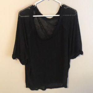 Free People Black T-shirt size Xs